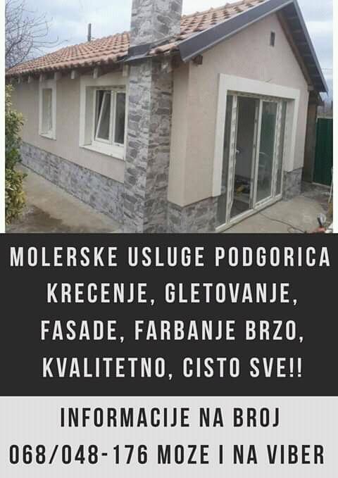 Moleraske usluge Podgorica