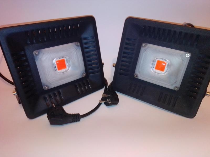 LED Grow REFLEKTORI 2 x 4500lm Full Spectrum + kabl